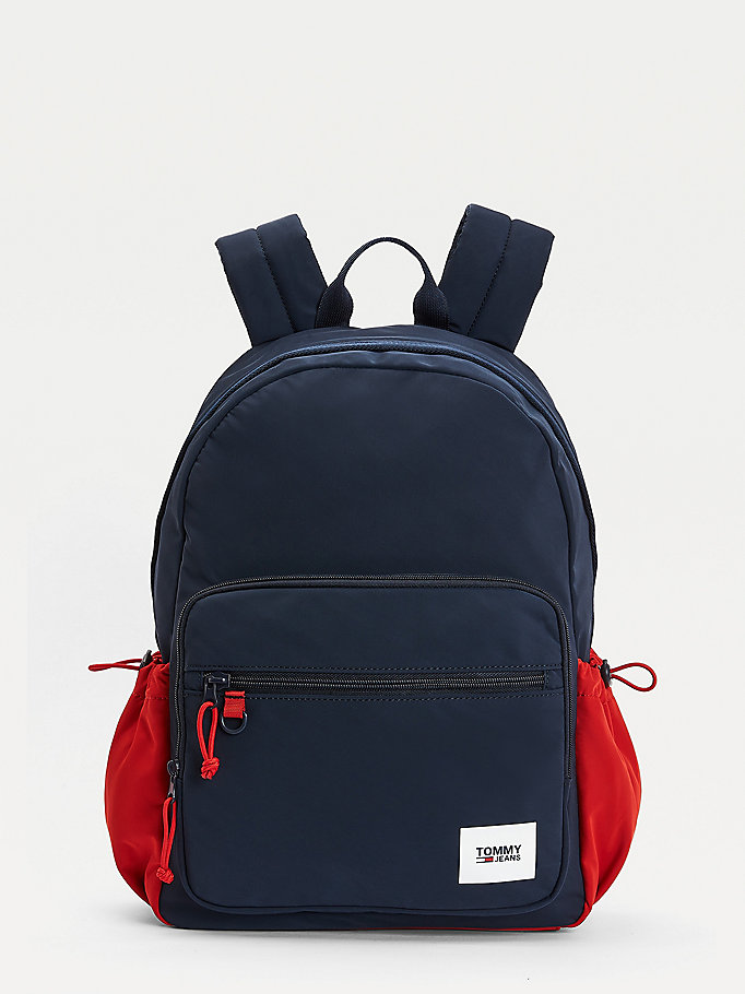 blue essential urban backpack for men tommy jeans
