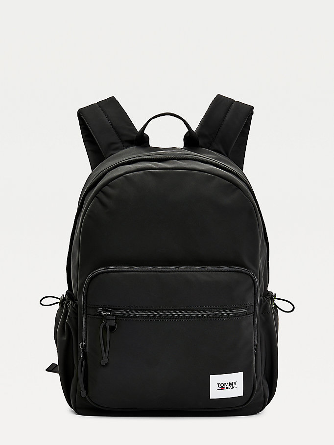 black essential urban backpack for men tommy jeans