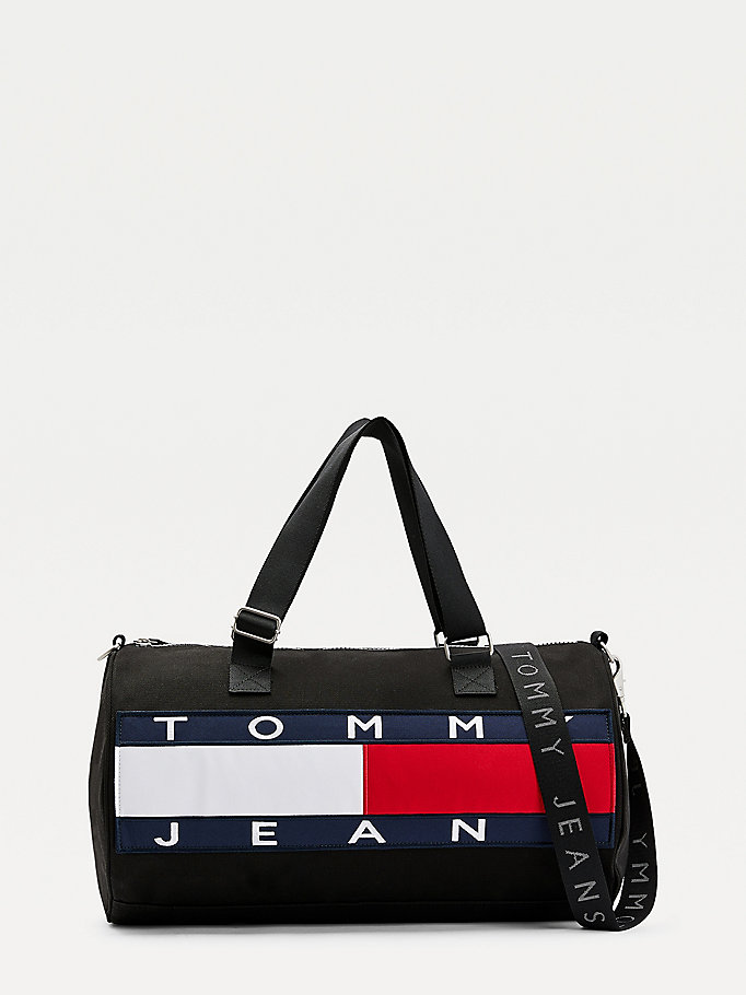 black duffle bag for men tommy jeans