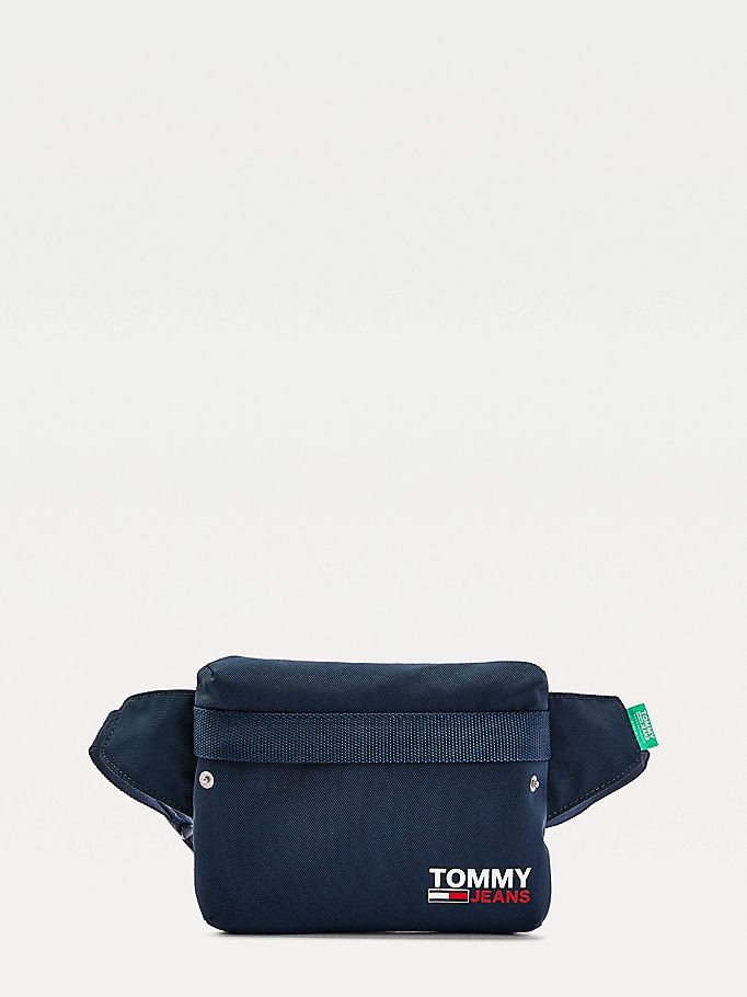 blue campus bum bag for men tommy jeans
