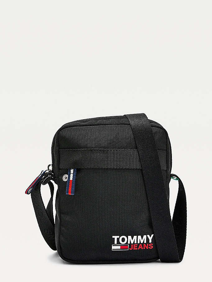 black campus reporter bag for men tommy jeans