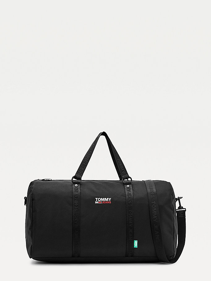 black campus duffle bag for men tommy jeans