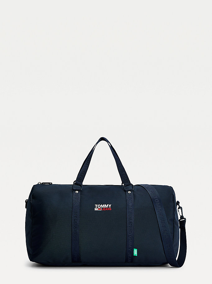 blue campus duffle bag for men tommy jeans