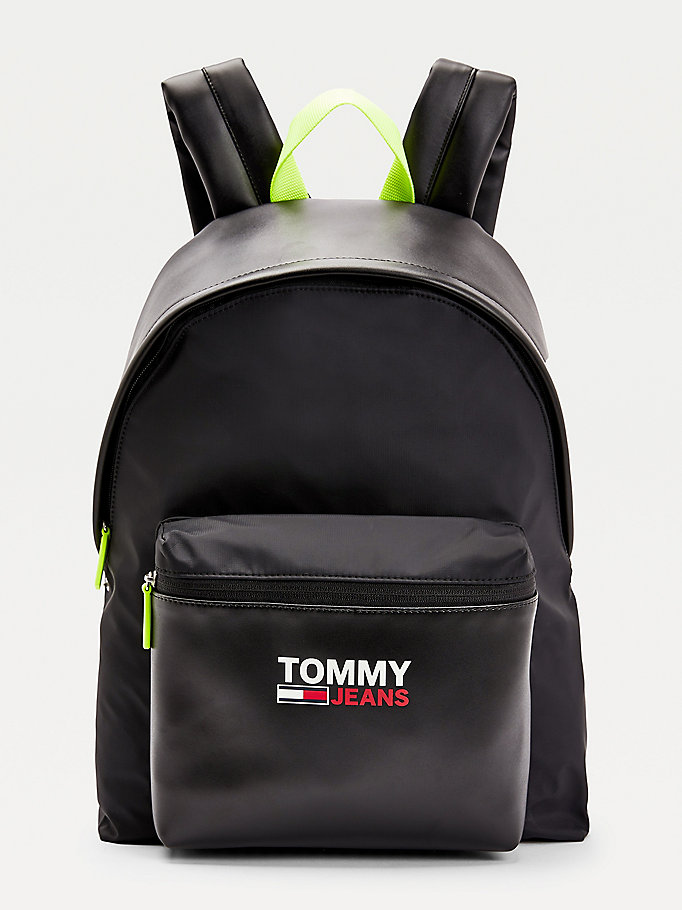 black campus laptop backpack for men tommy jeans