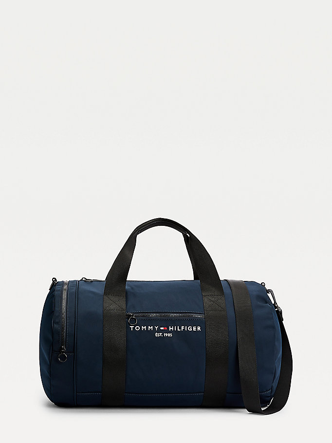 blue th established logo duffel bag for men tommy hilfiger