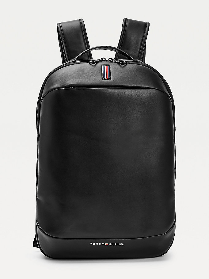 black metro signature detail backpack for men tommy hilfiger