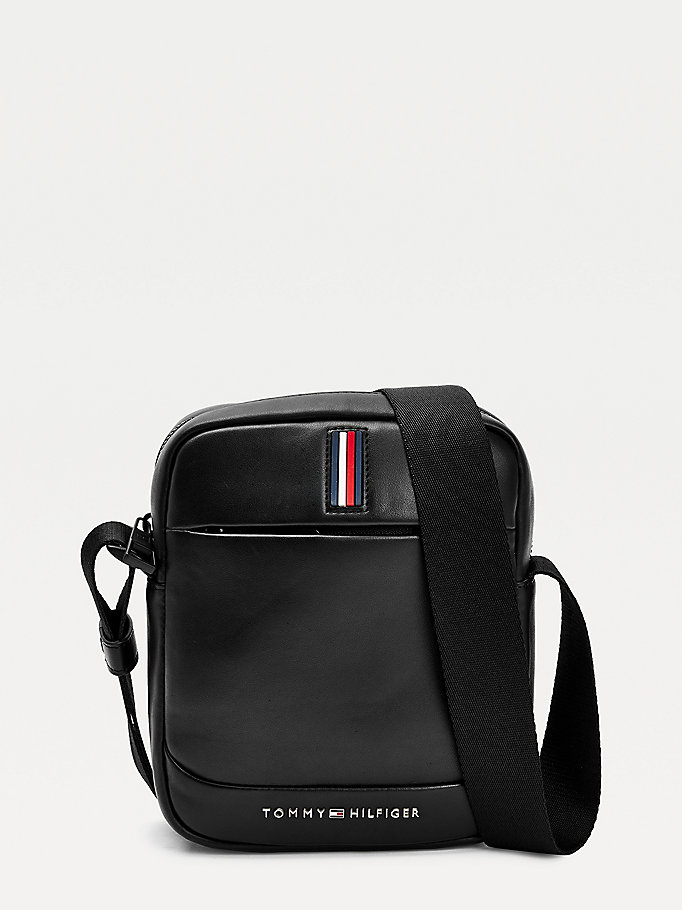 black metro small reporter bag for men tommy hilfiger