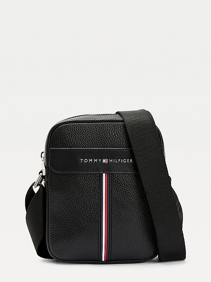 sac reporter downtown noir pour men tommy hilfiger