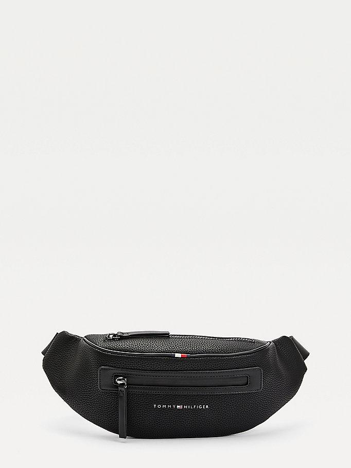 Tommy Hilfiger Womens Designer Crossbody Handbag Black