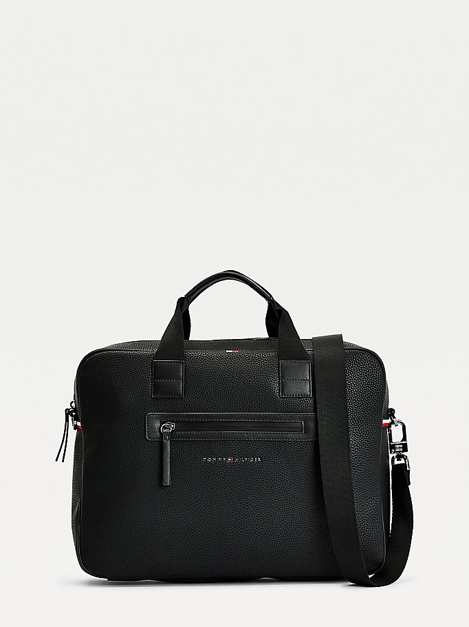 zwart essential laptoptas voor heren - tommy hilfiger