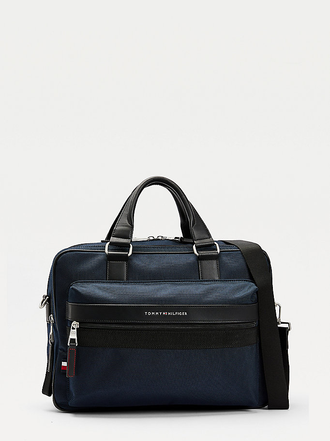 blue textured finish 48-hour bag for men tommy hilfiger