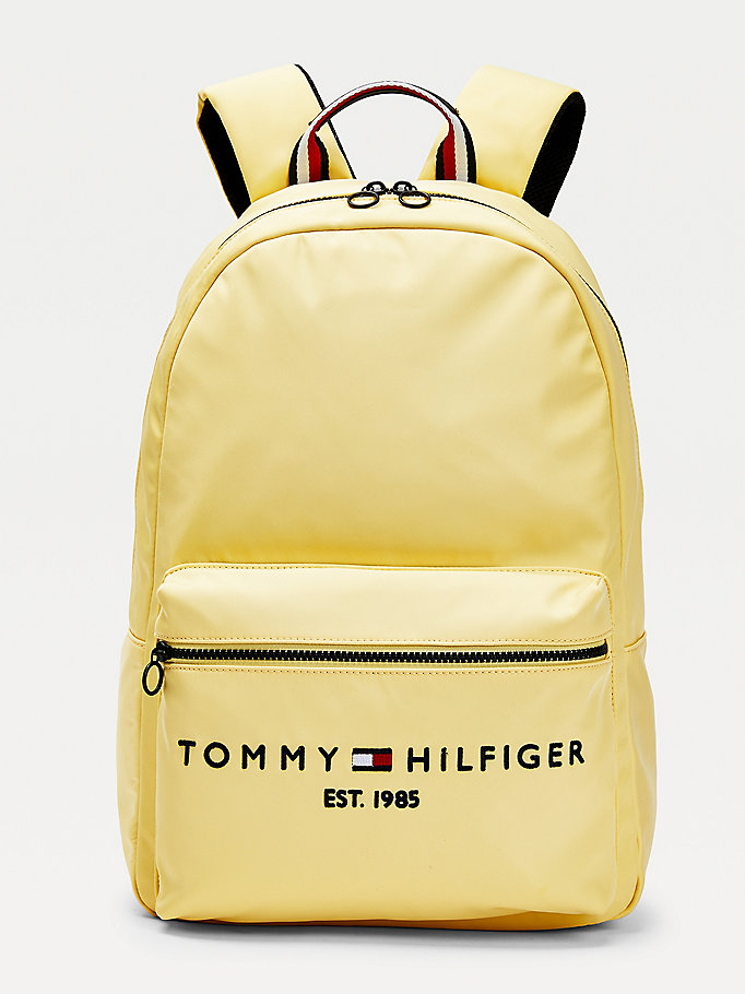 yellow th established logo embroidery backpack for men tommy hilfiger