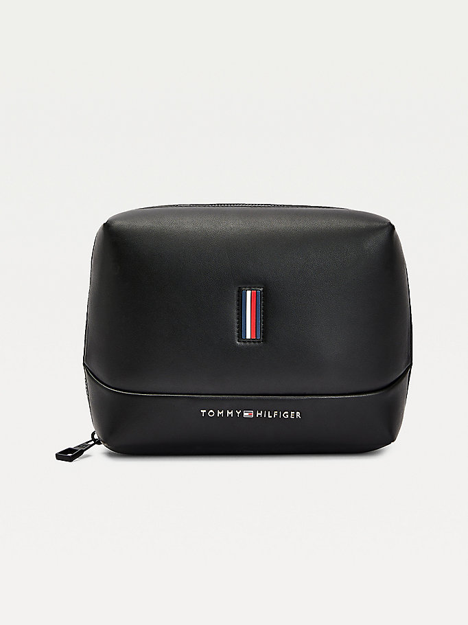 black metro tech pouch for men tommy hilfiger