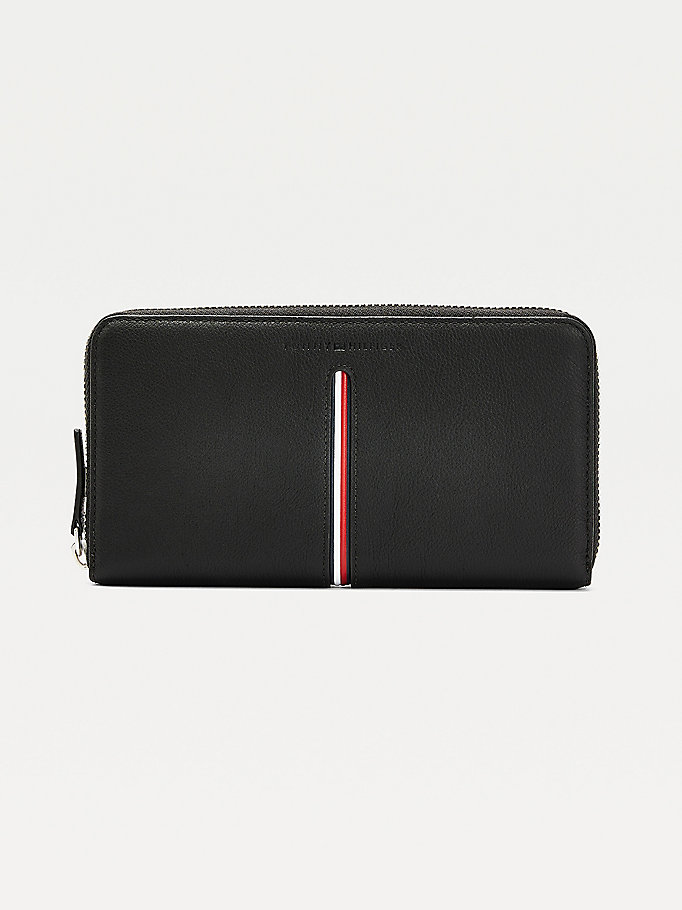 black downtown wallet for men tommy hilfiger