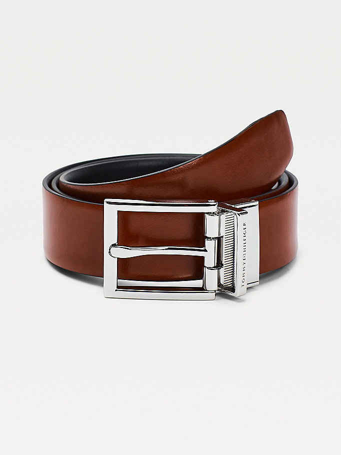 black layton reversible leather belt for men tommy hilfiger
