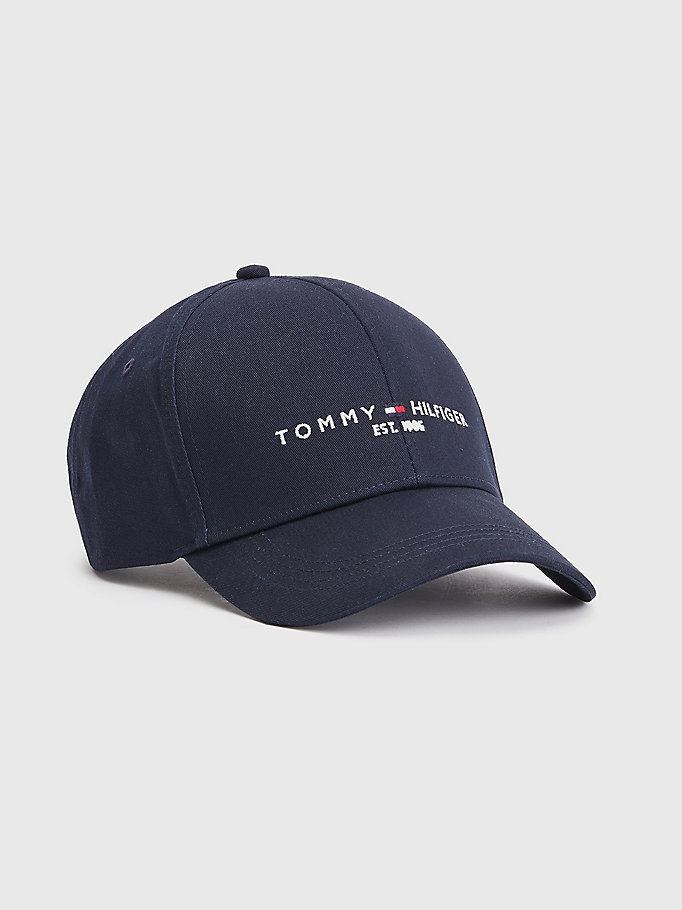 blau th established cap mit 1985-logo für herren - tommy hilfiger