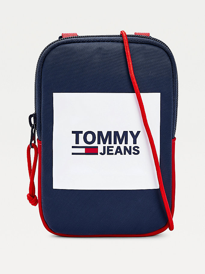 blue urban logo compact for men tommy jeans