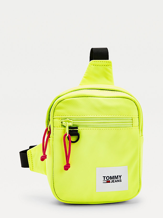 yellow essential colour-blocked chest bag for men tommy jeans