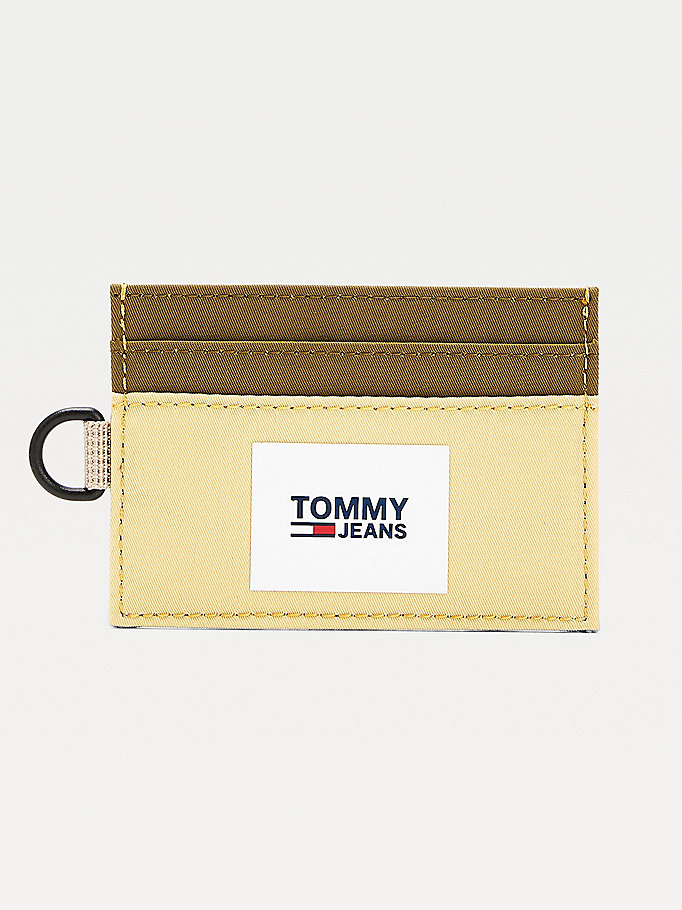 green urban d-ring card holder for men tommy jeans