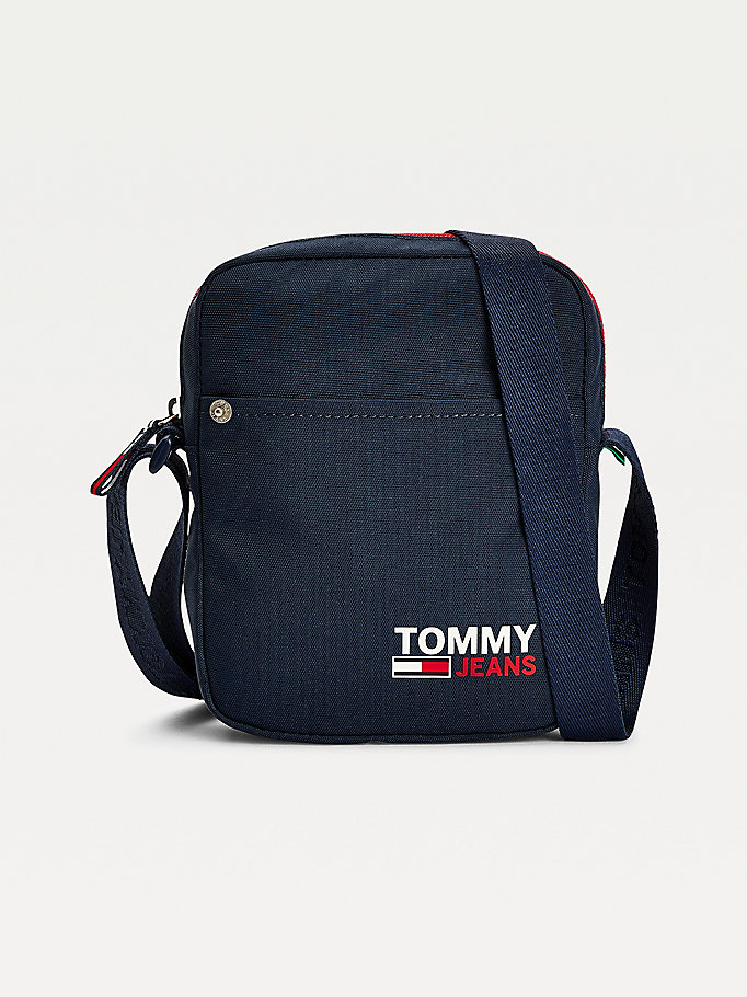 blue campus repeat logo reporter for men tommy jeans