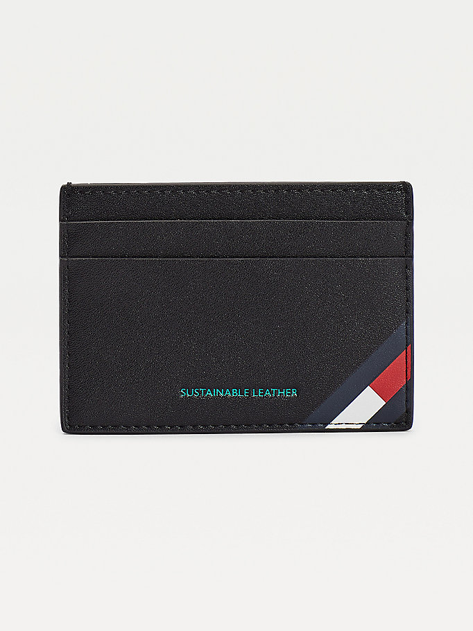 black campus logo card holder for men tommy jeans