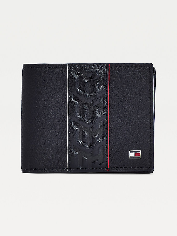 black th monogram small wallet for men tommy hilfiger