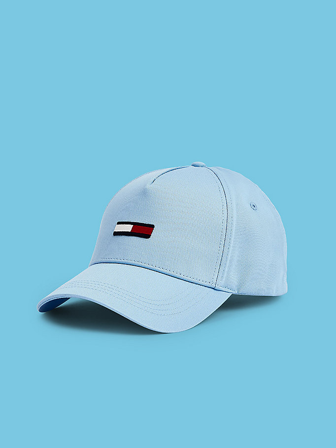blue pastel pure cotton cap for men tommy jeans