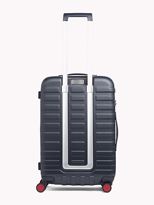 TOMMY HILFIGER Luxury Embossed Stripe Hard Suitcase - TOMMY NAVY STRIPE - TOMMY HILFIGER Suitcases - detail image 1