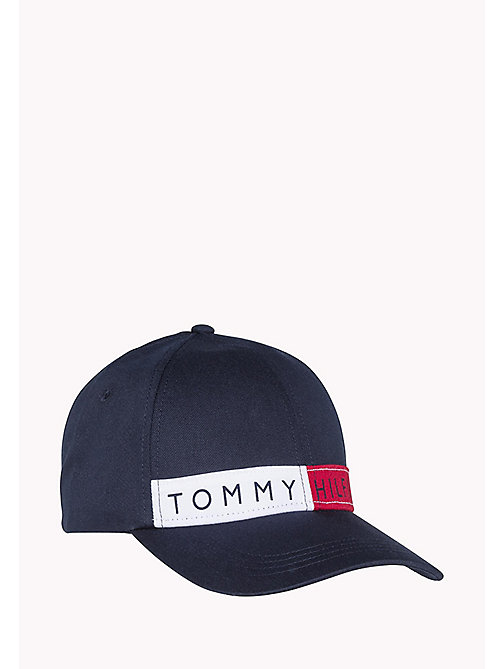 TOMMY JEANS Cotton Twill Logo Baseball Cap - SKY CAPTAIN - TOMMY JEANS Hats, Gloves & Scarves - main image