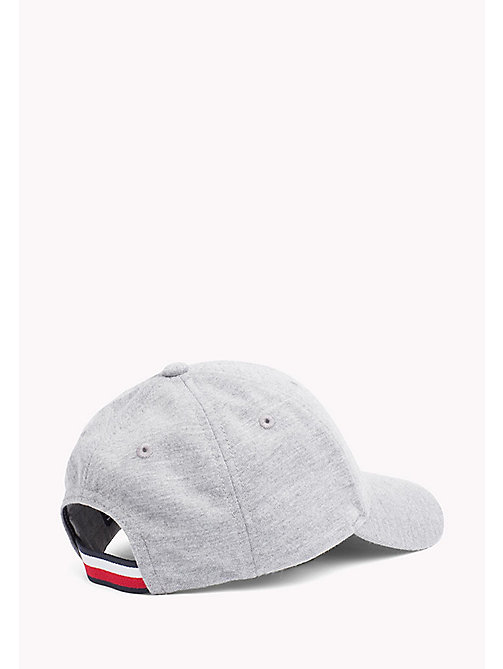TOMMY HILFIGER Cotton Flag Cap - LT GREY HTR - TOMMY HILFIGER Shoes & Accessories - detail image 1