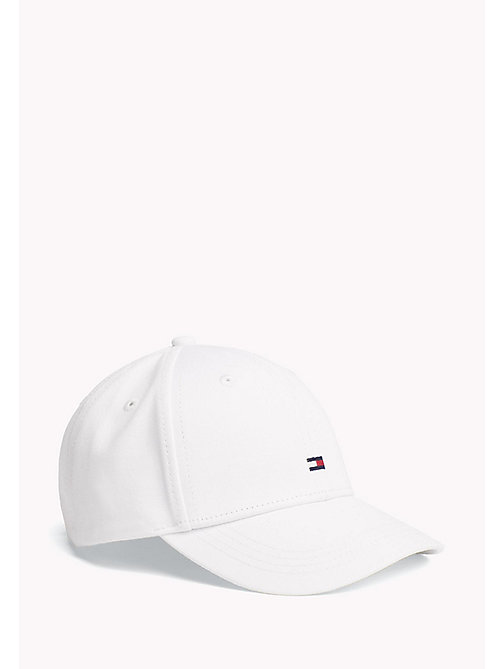 TOMMY HILFIGER Cotton Flag Cap - BRIGHT WHITE - TOMMY HILFIGER Shoes & Accessories - main image