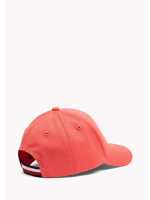 TOMMY HILFIGER Kids Cotton Flag Cap - SPICED CORAL - TOMMY HILFIGER Girls - detail image 1