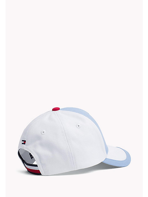 TOMMY HILFIGER Hilfiger Logo Baseball Cap - ALLURE- WHITE - TOMMY HILFIGER Shoes & Accessories - detail image 1