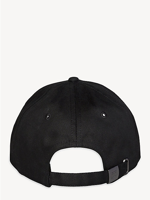 TOMMY JEANS Flag Front Baseball Cap - BLACK - TOMMY JEANS VACATION FOR HER - detail image 1