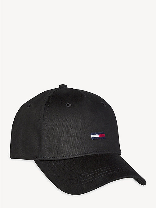 TOMMY JEANS Flag Front Baseball Cap - BLACK - TOMMY JEANS Tommy Jeans Accessories - main image