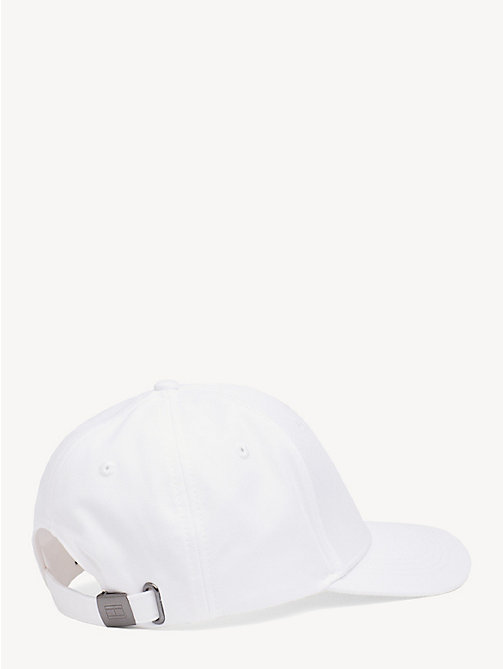 TOMMY JEANS Flag Front Baseball Cap - BRIGHT WHITE - TOMMY JEANS Tommy Jeans Accessories - detail image 1