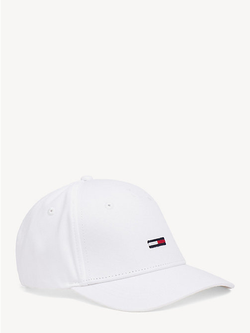 TOMMY JEANS Flag Front Baseball Cap - BRIGHT WHITE - TOMMY JEANS Tommy Jeans Accessories - main image