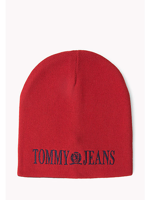 TOMMY JEANS Reversible Beanie - SALSA- PEACOAT - TOMMY JEANS Hats, Gloves & Scarves - main image