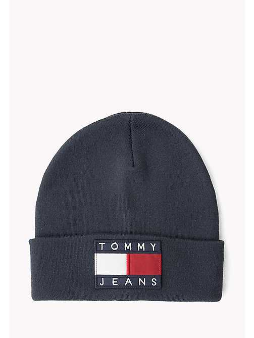 TOMMY JEANS Flag Beanie - PEACOAT - TOMMY JEANS Hats & Scarves - main image