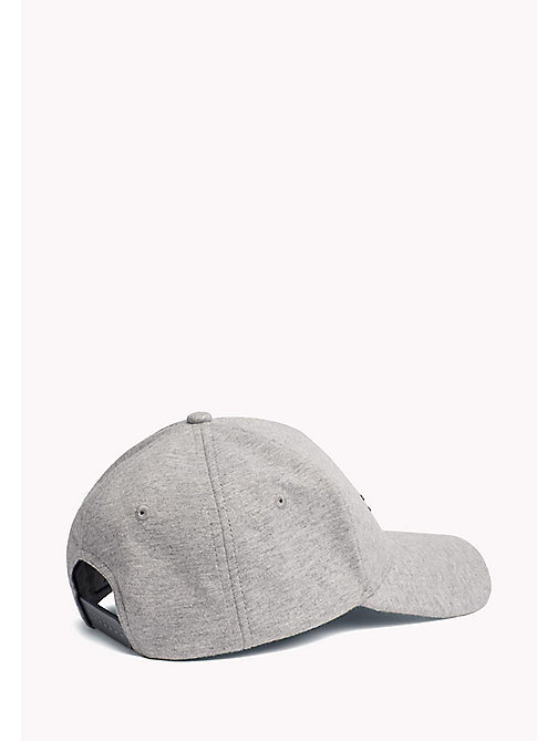 TOMMY JEANS Cotton Flag Cap - LT GREY HTR - TOMMY JEANS MEN - detail image 1