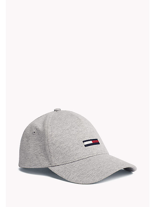 TOMMY JEANS Cotton Flag Cap - LT GREY HTR - TOMMY JEANS Tommy Jeans Accessories - main image