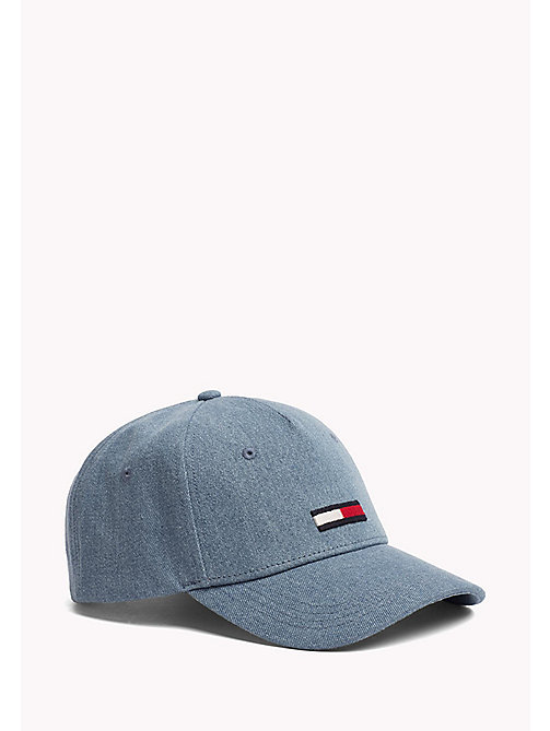 TOMMY JEANS Flag Embroidery Denim Cap - DENIM - TOMMY JEANS VACATION FOR HER - main image