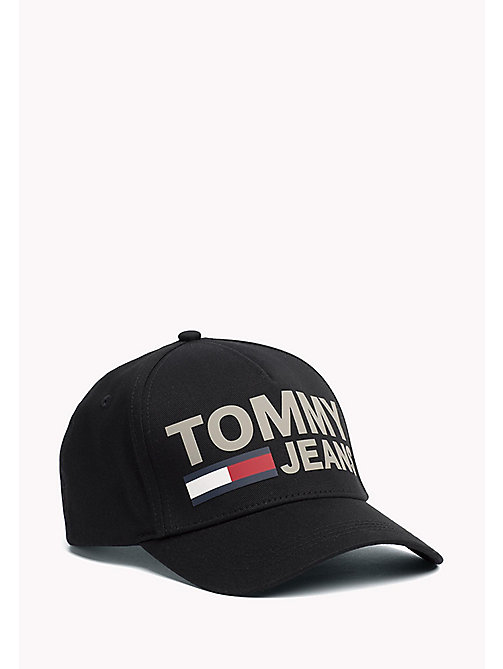 TOMMY JEANS Tommy Jeans Logo Cap - BLACK - TOMMY JEANS Tommy Jeans Accessories - main image