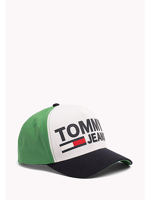 TOMMY JEANS Tommy Jeans Logo Cap - GREEN/WHITE - TOMMY JEANS Tommy Jeans Shoes & Accessories - main image