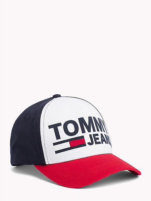 TOMMY JEANS Tommy Jeans Flocked Cotton Twill Cap - CORPORATE - TOMMY JEANS Tommy Jeans Accessories - main image