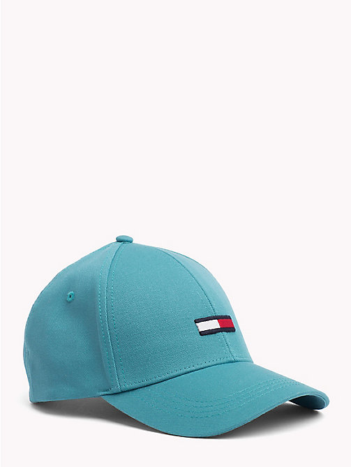 TOMMY JEANS Flag Baseball Cap - GREEN BLUE SLATE - TOMMY JEANS VACATION FOR HER - main image