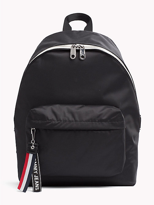 TOMMY JEANS Tommy Jeans Logo Backpack - BLACK - TOMMY JEANS Festival Season - main image