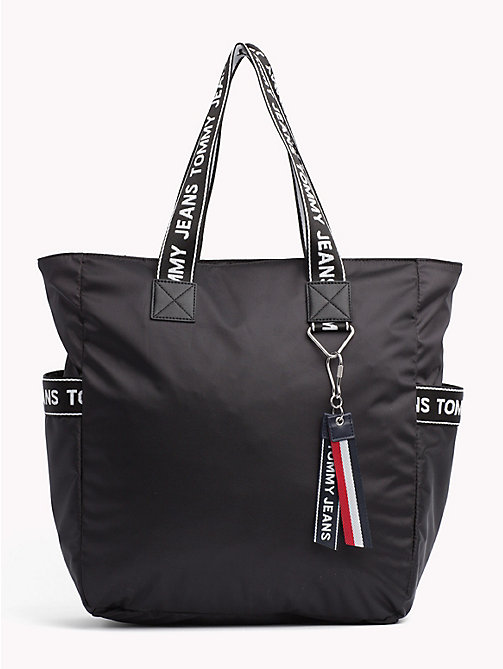 TOMMY JEANS Tommy Jeans Logo Tote - BLACK - TOMMY JEANS Shoes & Accessories - main image