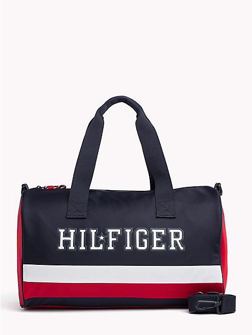 TOMMY HILFIGER Borsone bambino con logo iconico color block - CORPORATE - TOMMY HILFIGER Borse e accessori - immagine principale