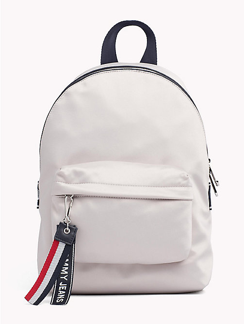 TOMMY JEANS Tommy Jeans Logo Satin Backpack - PUMICE STONE - TOMMY JEANS Shoes & Accessories - main image